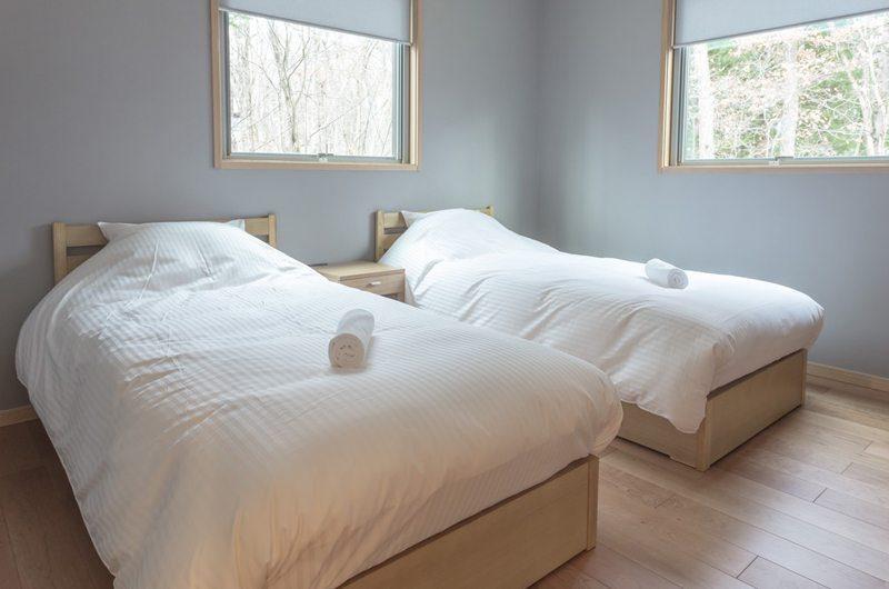 Bluebird Chalets Twin Bedroom Side | Hakuba, Nagano | Ministry of Chalets