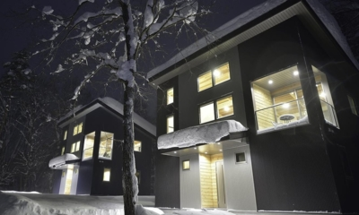 Bluebird Chalets Night View Building | Hakuba, Nagano | Ministry of Chalets
