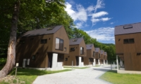 Gakuto Villas Outdoor Area with View | Hakuba, Nagano | Ministry of Chalets