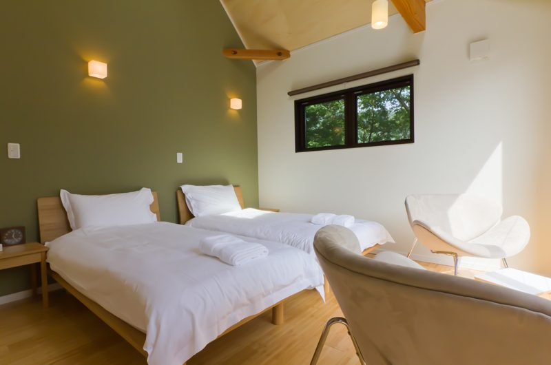 Gakuto Villas Twin Bedroom | Hakuba, Nagano | Ministry of Chalets