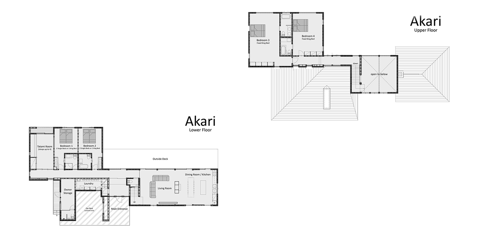 Akari Floor Plan | Hirafu, Niseko | Ministry of Chalets