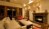 Annabel Living Room with Fire Place | Hirafu, Niseko | Ministry of Chalets