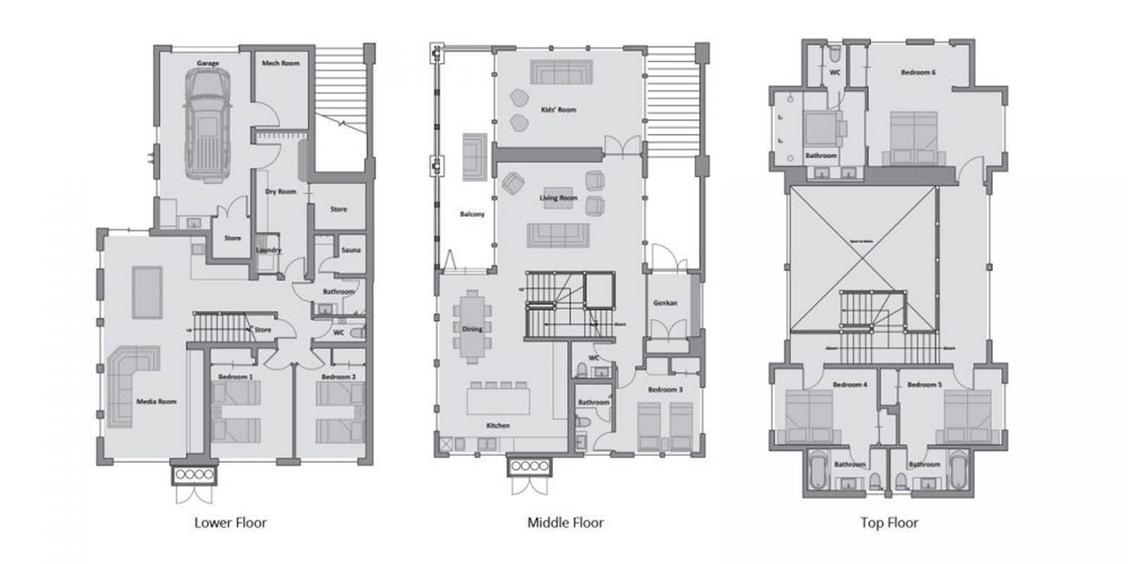Annabel Floor Plan | Hirafu, Niseko | Ministry of Chalets