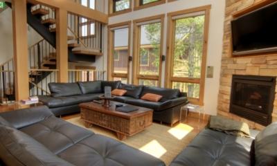 Asahi Lodge Living Area with TV   Hirafu, Niseko   Ministry of Chalets