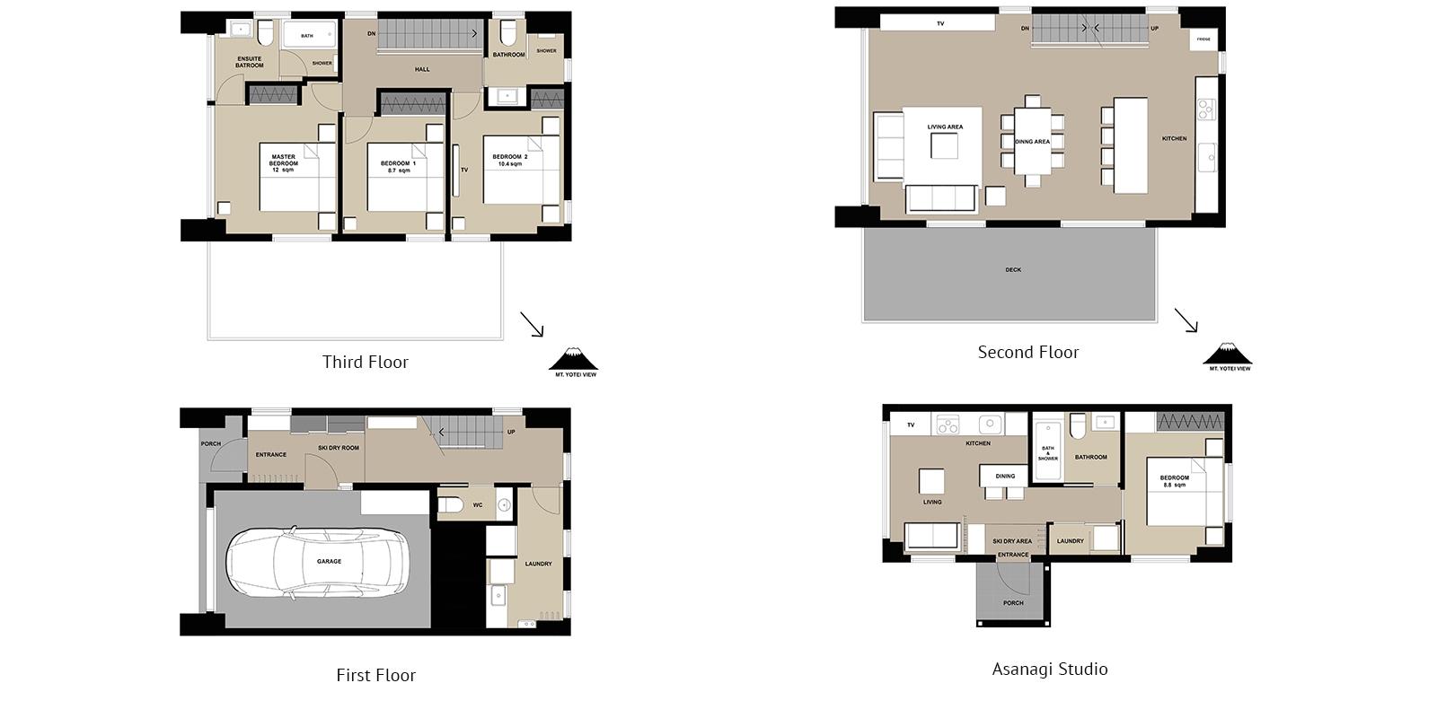 Asanagi Floor Plan | Hirafu, Niseko | Ministry of Chalets