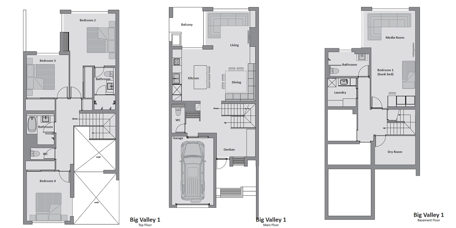 Big Valley Floor Plan | Hirafu, NIseko | Ministry of Chalets