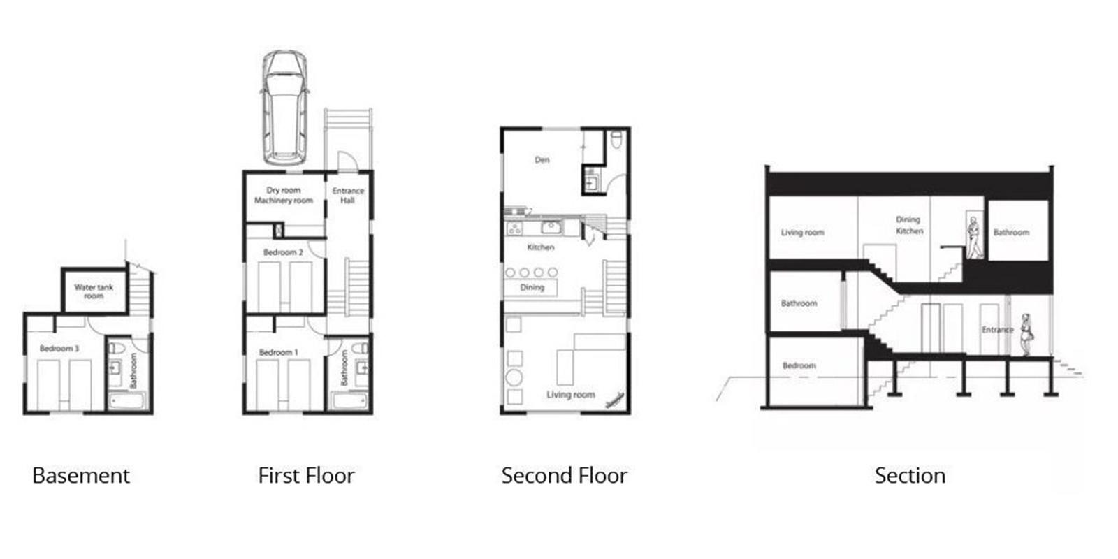 Birch Grove Floor Plan | Hirafu, Niseko | Ministry of Chalets