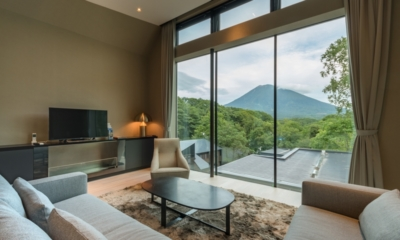 Boheme Indoor Living Area with View | Hirafu, Niseko | Ministry of Chalets