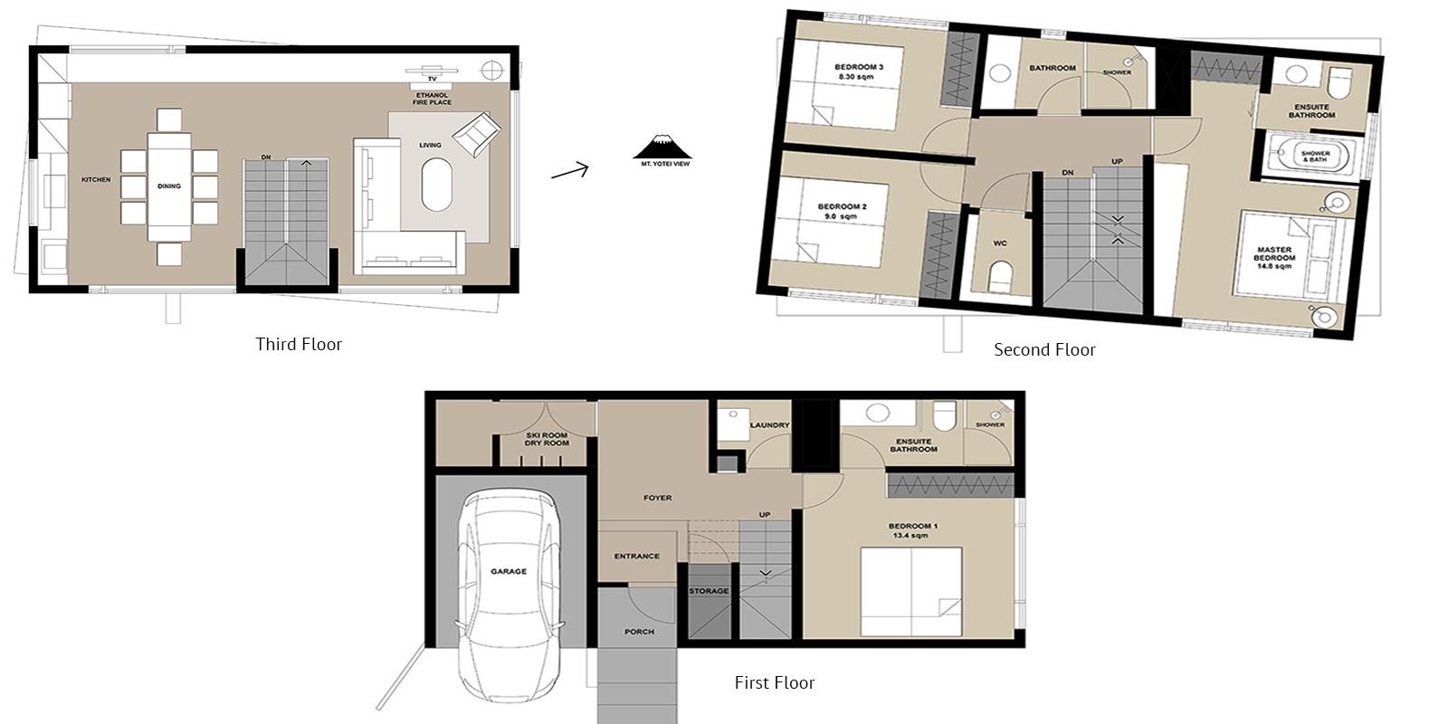 Boheme Floor Plan   Hirafu, Niseko   Ministry of Chalets