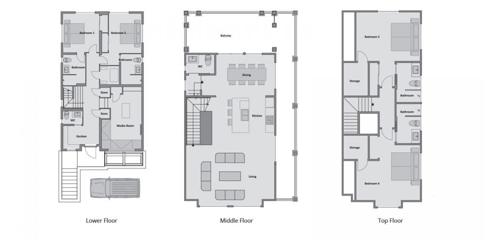 Byakko Floor Plan | Hirafu, Niseko | Ministry of Chalets