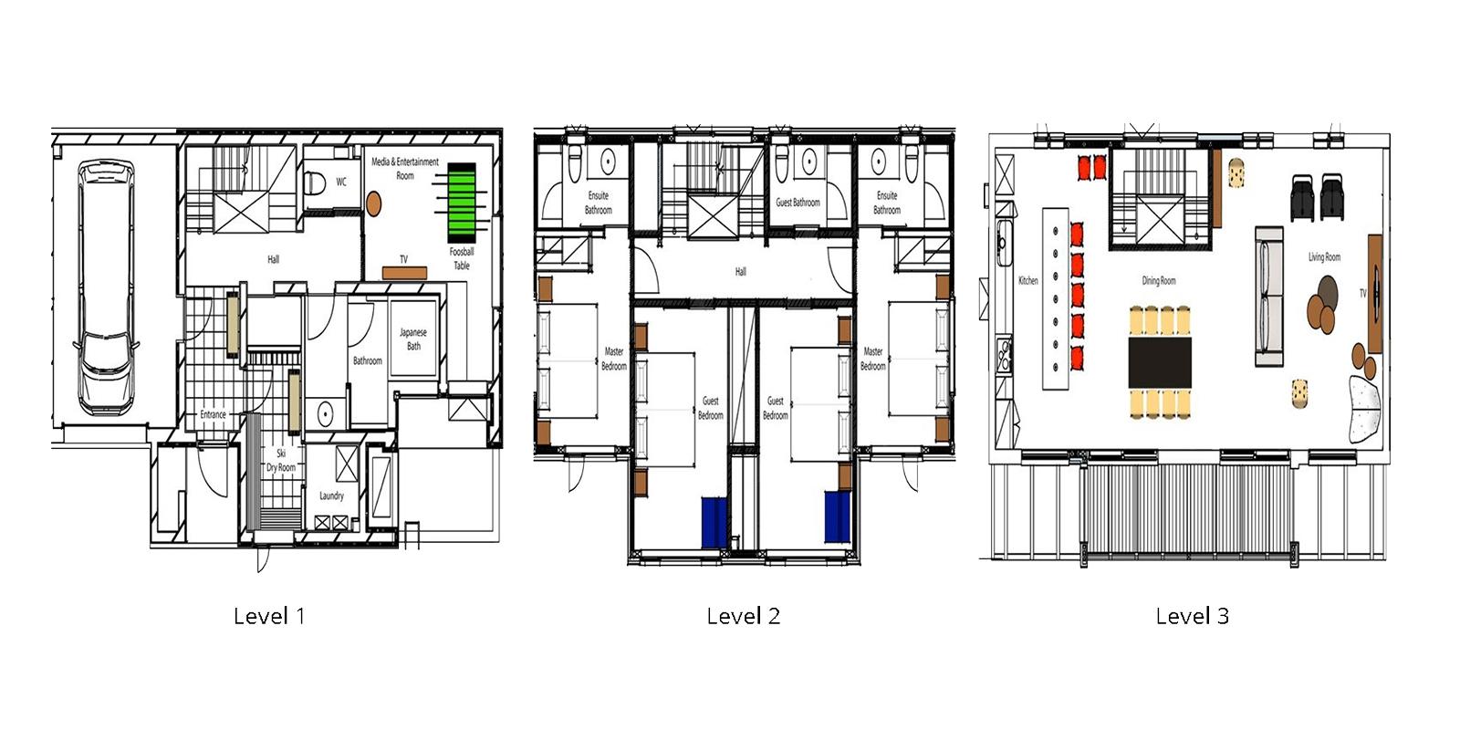 Chalet Luma Floor Plan | Hirafu, Niseko | Ministry of Chalets