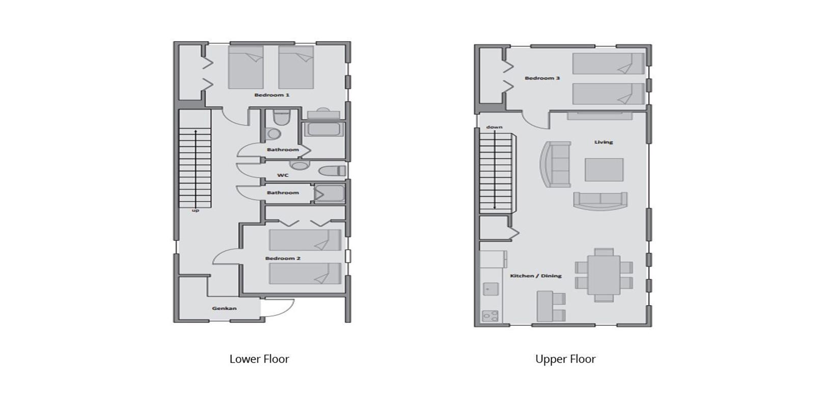 Cocoa Floor Plan | Hirafu, Niseko | Ministry of Chalets