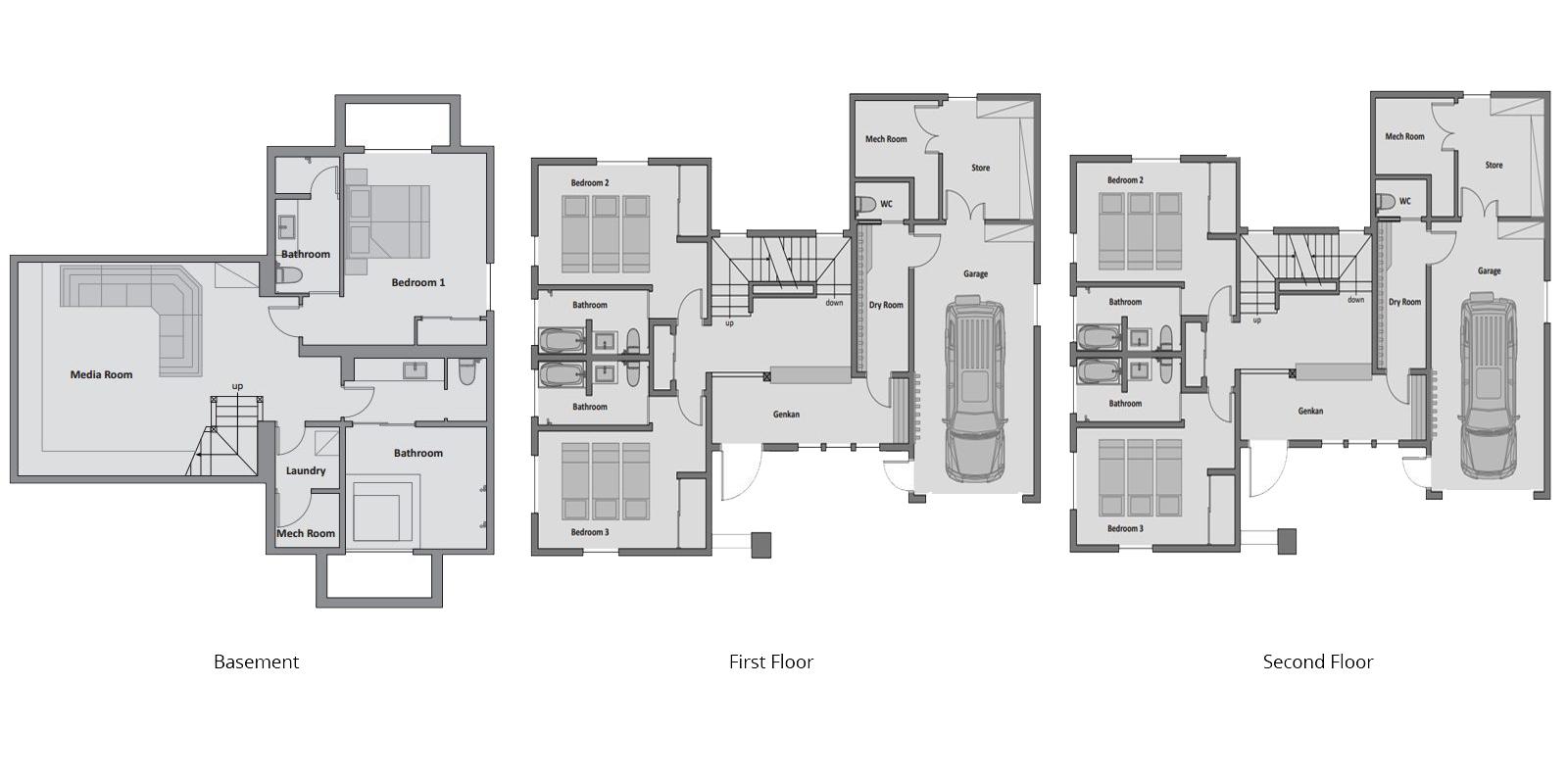 Enju Floor Plan | Hirafu, Niseko | Ministry of Chalets