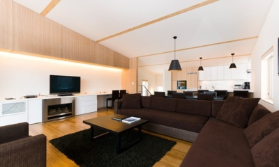 Forest Estate Living And Dining Area | Middle Hirafu Village, Niseko | Ministry of Chalets