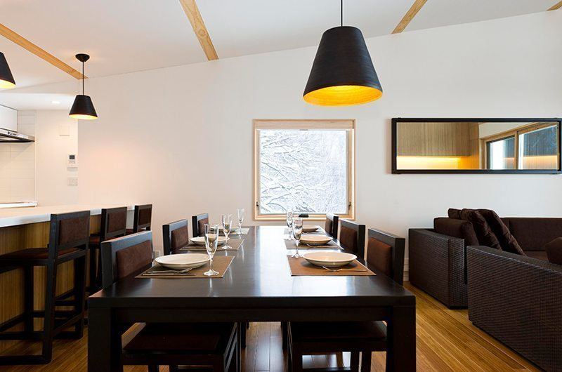 Forest Estate Dining Area And Breakfast Bar | Middle Hirafu Village, Niseko | Ministry of Chalets