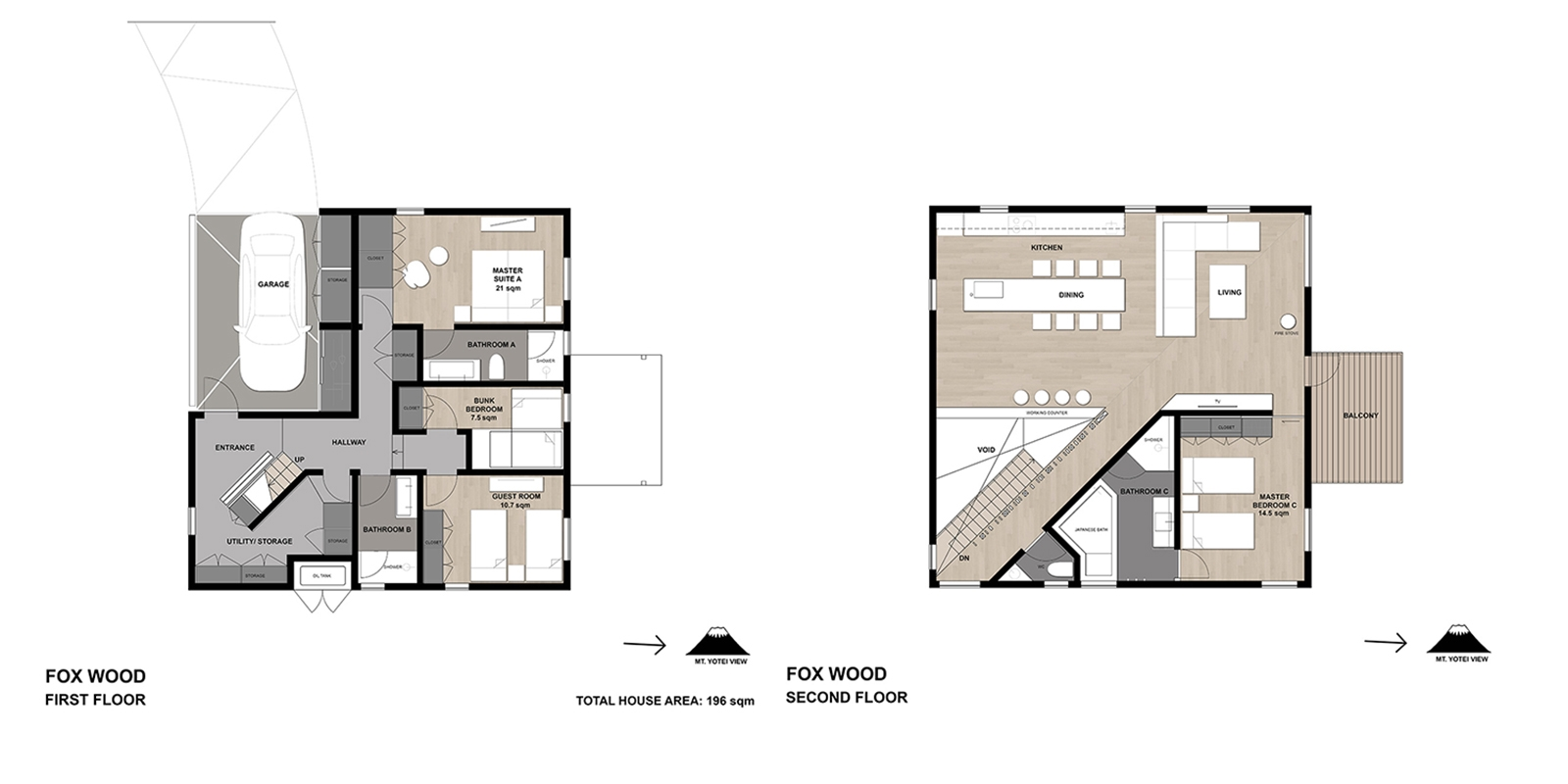 Foxwood Floor Plan | Hirafu, Niseko | Ministry of Chalets
