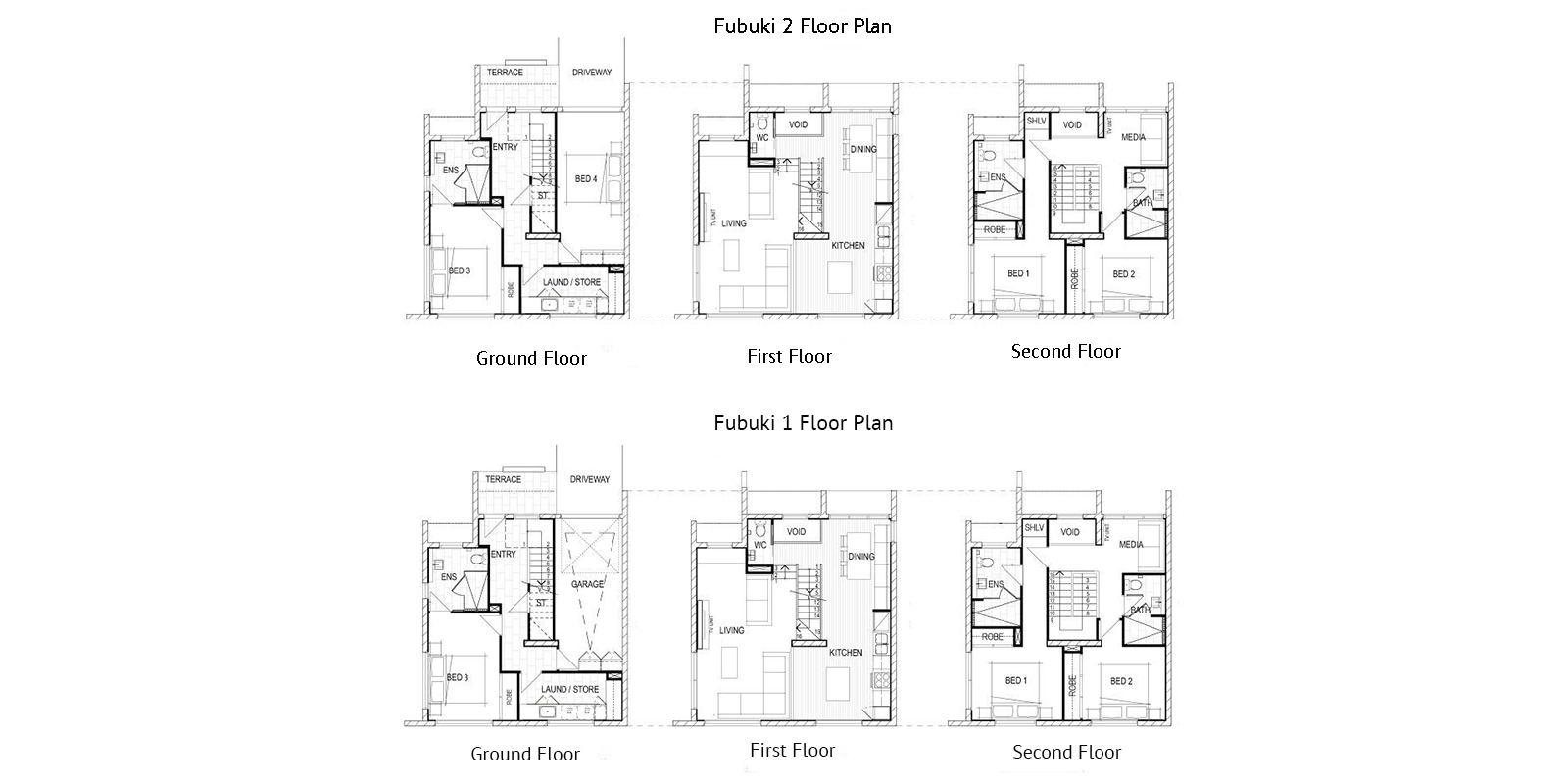 Fubuki Floor Plan | Hirafu, NIseko | Ministry of Chalets