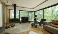 Glass House Living Room | Lower Hirafu Village,  Niseko | Ministry of Chalets