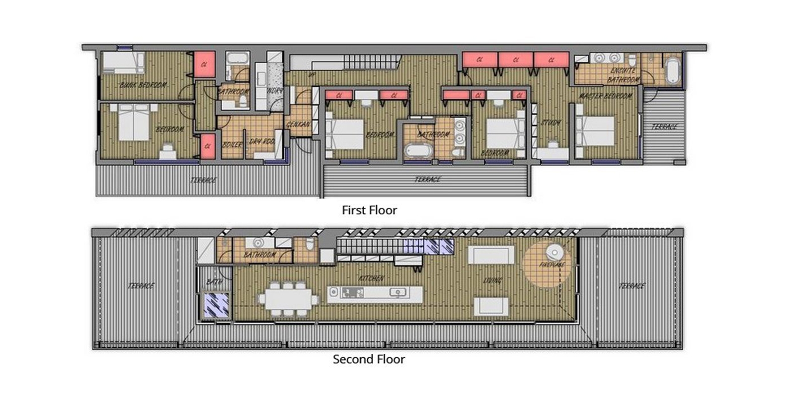 Glasshouse Floor Plan | Hirafu, Niseko | Ministry of Chalets
