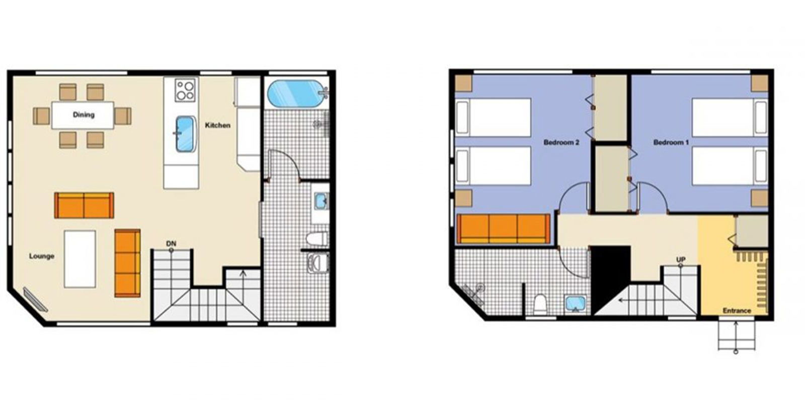 Hana and Jo Floor Plan | Hirafu, Niseko | Ministry of Chalets