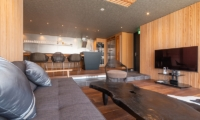 Hideaway on Escarpment Living Room with TV | Hirafu, Niseko | Ministry of Chalets