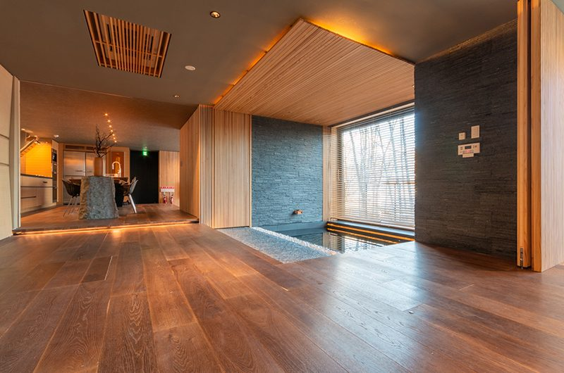 Hideaway on Escarpment Living Area with Bathtub | Hirafu, Niseko | Ministry of Chalets