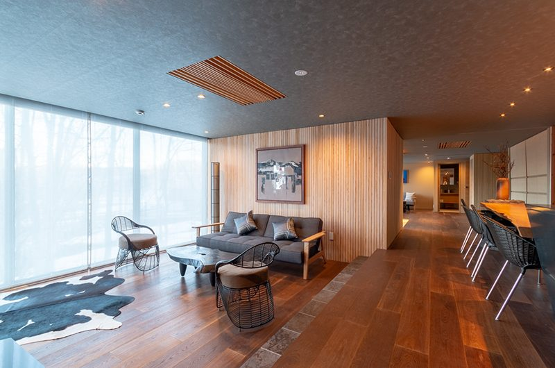 Hideaway on Escarpment Living and Dining Area | Hirafu, Niseko | Ministry of Chalets