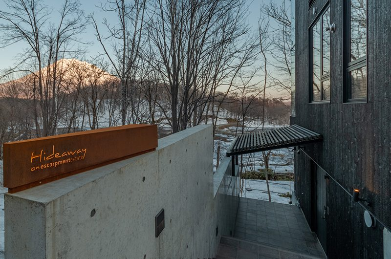 Hideaway on Escarpment Entrance Sign | Hirafu, Niseko | Ministry of Chalets