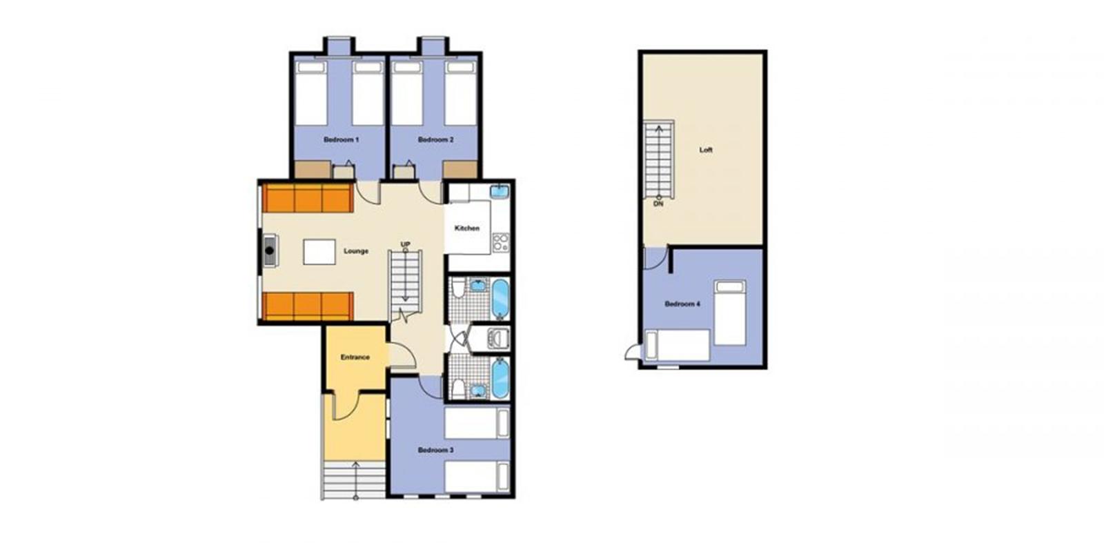 Jurin Cottage Floor Plan | Hirafu, Niseko | Ministry of Chalets