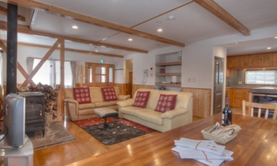 Kisetsu Indoor Living and Dining Area | Hirafu Izumikyo 1, Niseko | Ministry of Chalets