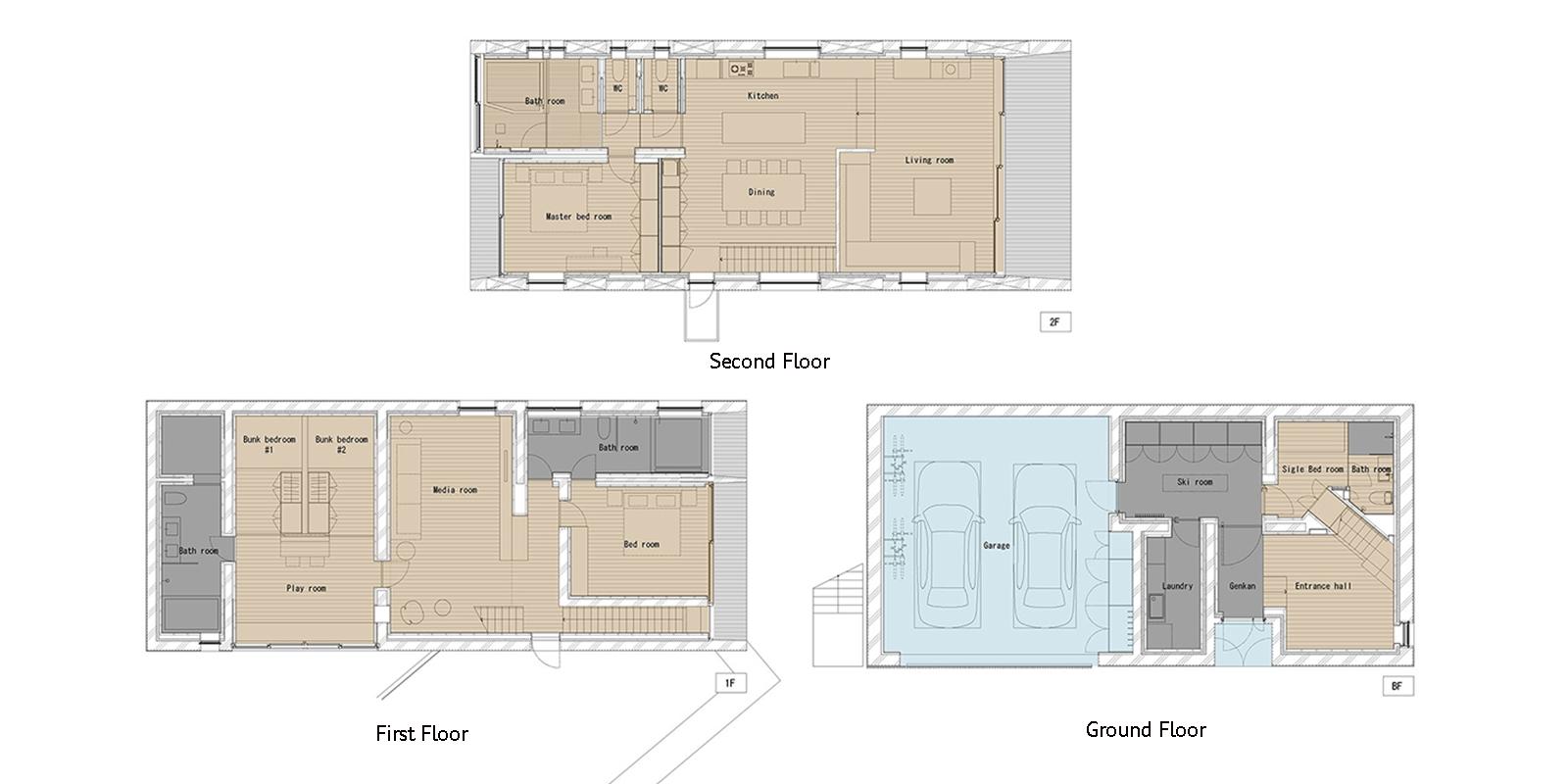 Kitadori Floor Plan | Hirafu, Niseko | Ministry of Chalets