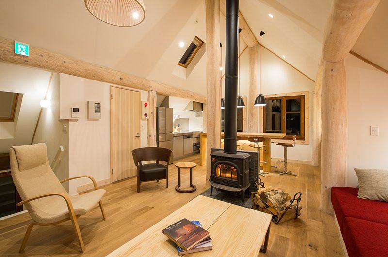 Koho Living Area with Fireplace | Hirafu, Niseko | Ministry of Chalets