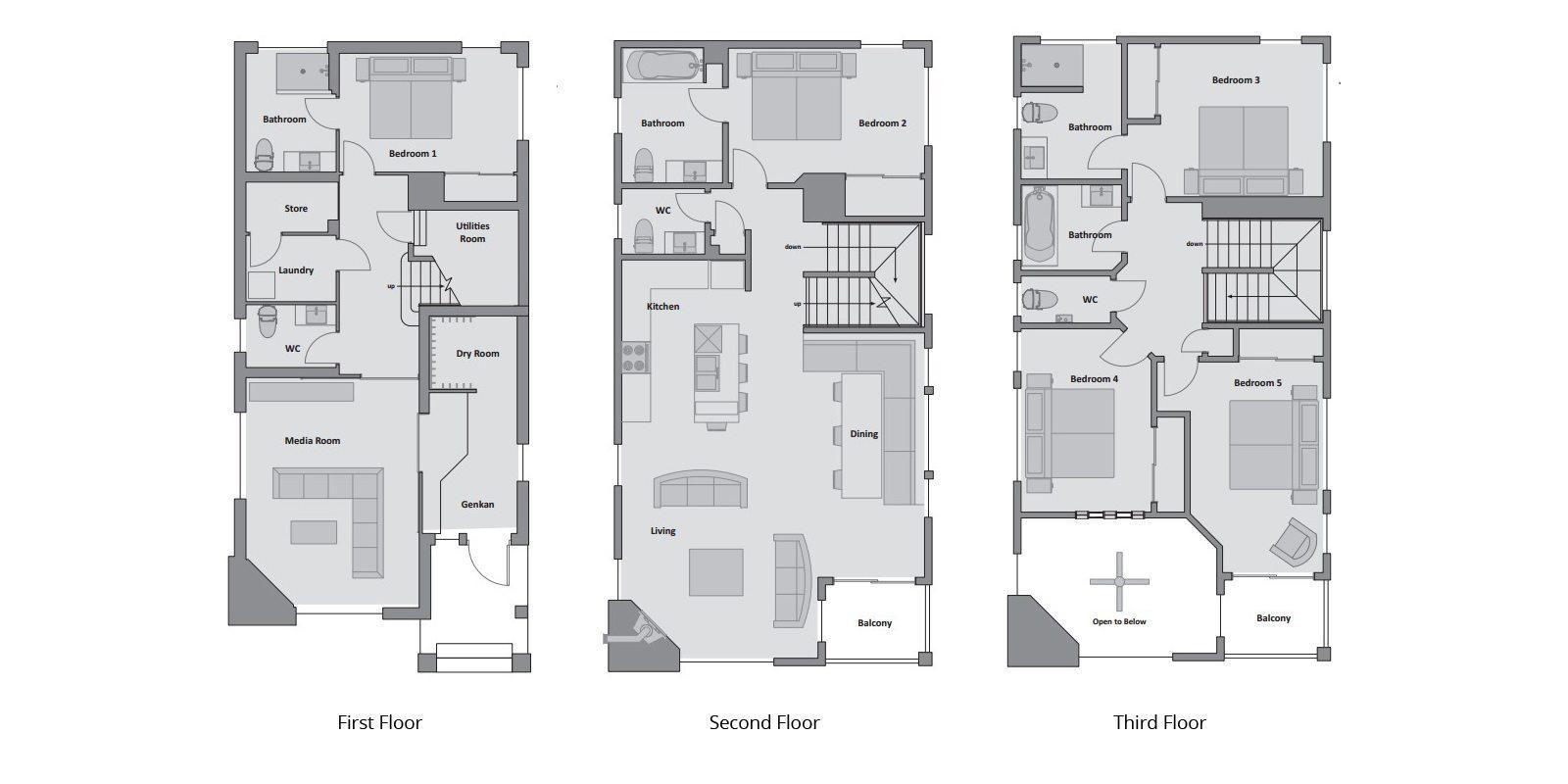 Konayuki Floor Plan | Hirafu, Niseko | Ministry of Chalets