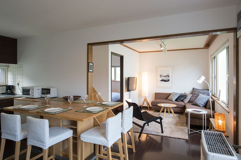 Kuma Cabin Dining and Living Area | Hirafu, Niseko | Ministry of Chalets