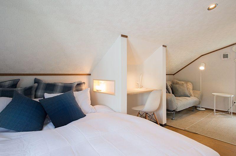 Kuma Cabin Bedroom with Study Table | Hirafu, Niseko | Ministry of Chalets