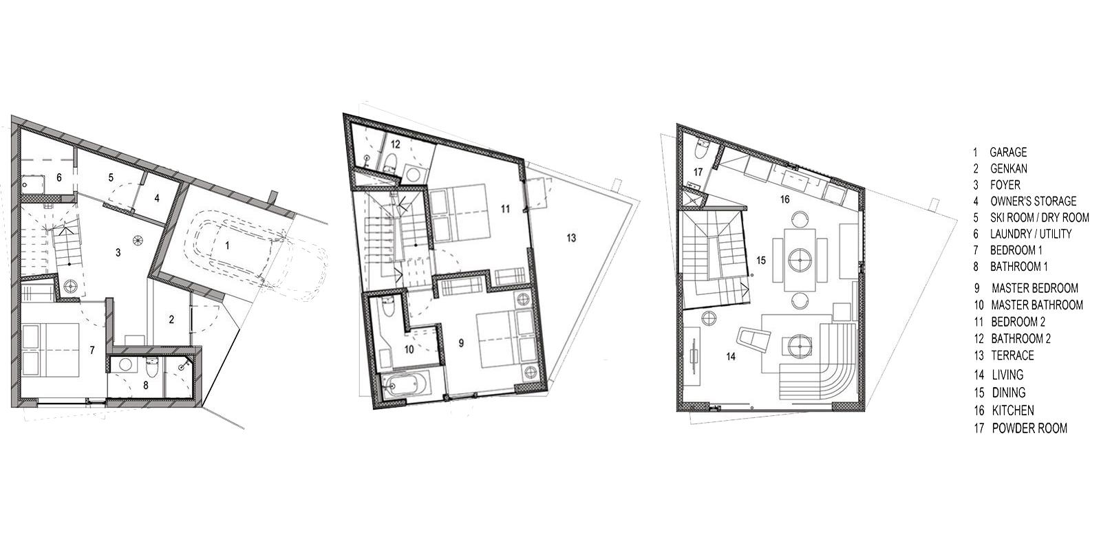 Millesime Floor Plan   Lower, Niseko   Ministry of Chalets