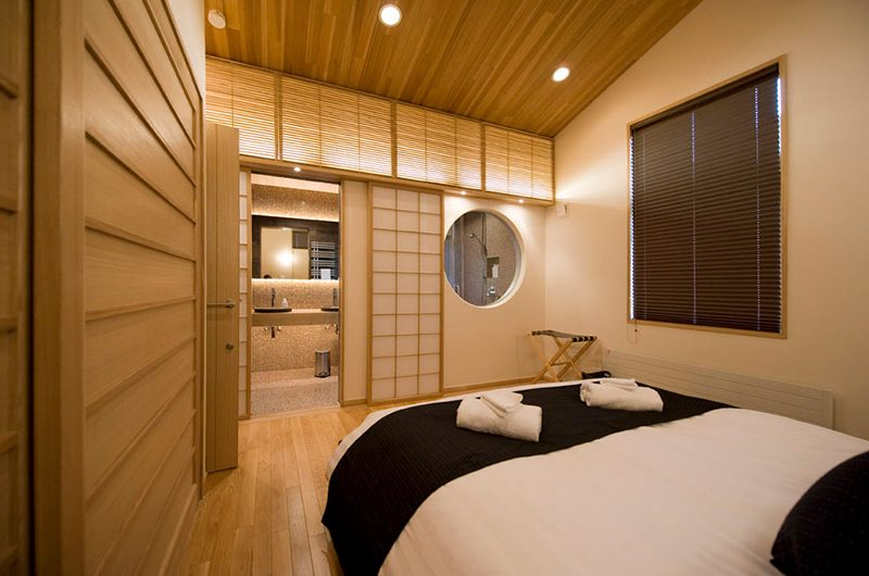 Miyabi Bedroom and Bathroom Area | Hirafu, Niseko | Ministry of Chalets