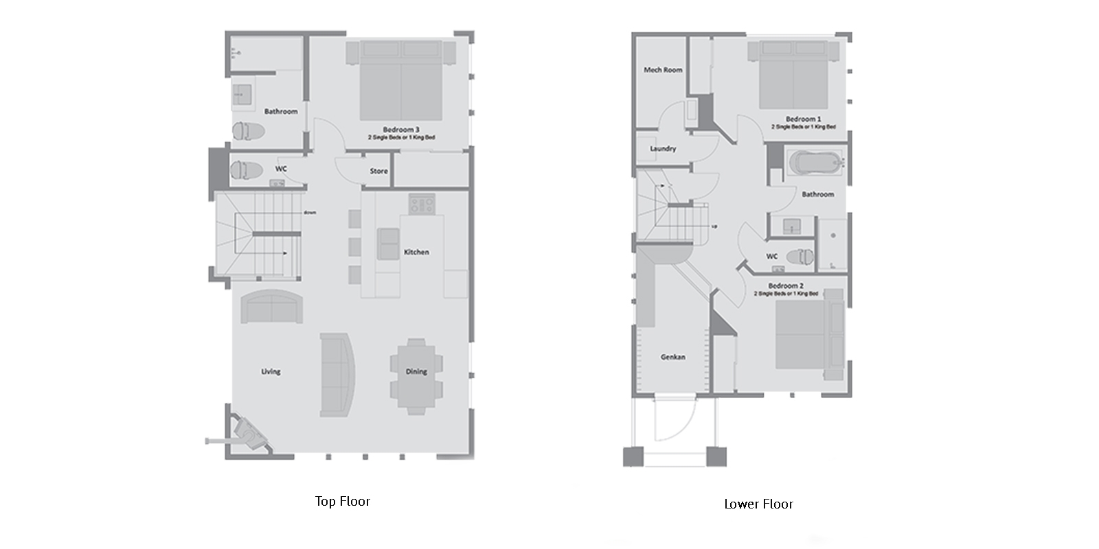 Mojos Floor Plan | Hirafu, Niseko | Ministry of Chalets