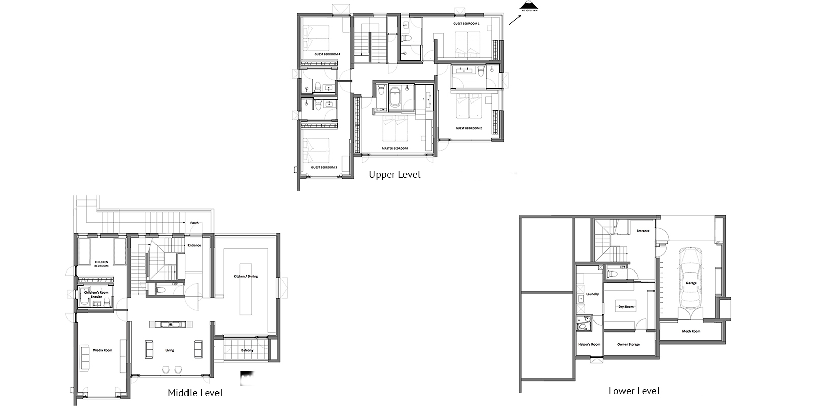 Mukashi Mukashi Floor Plan | Hirafu, NIseko | Ministry of Chalets