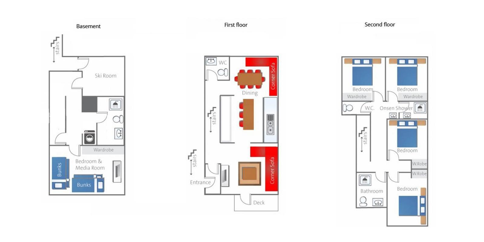 Neyuki Townhouses Floor Plan | Hirafu, Niseko | Ministry of Chalets