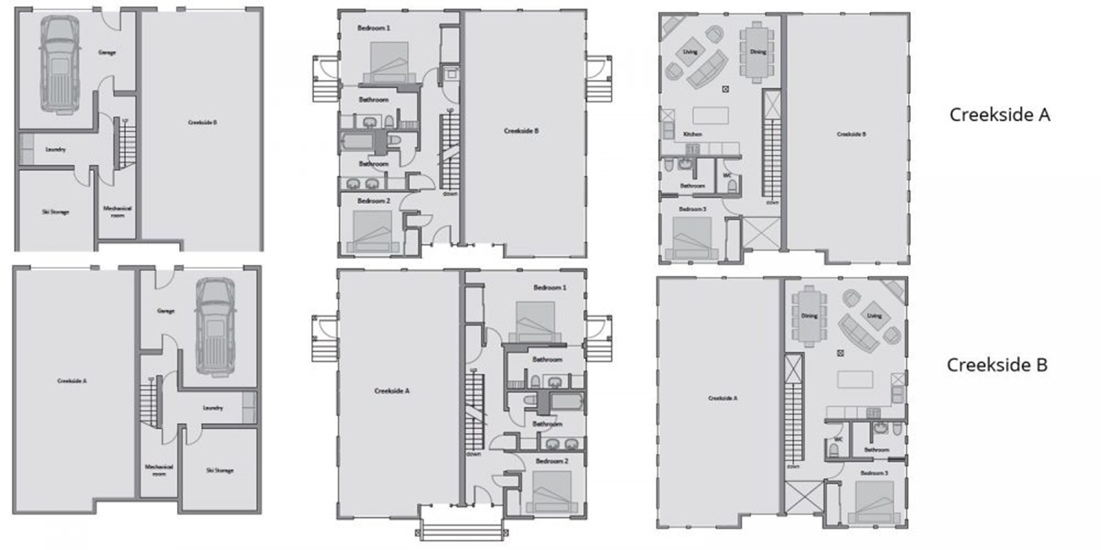 Niseko Creekside Floor Plan | Hirafu, Niseko | Ministry of Chalets