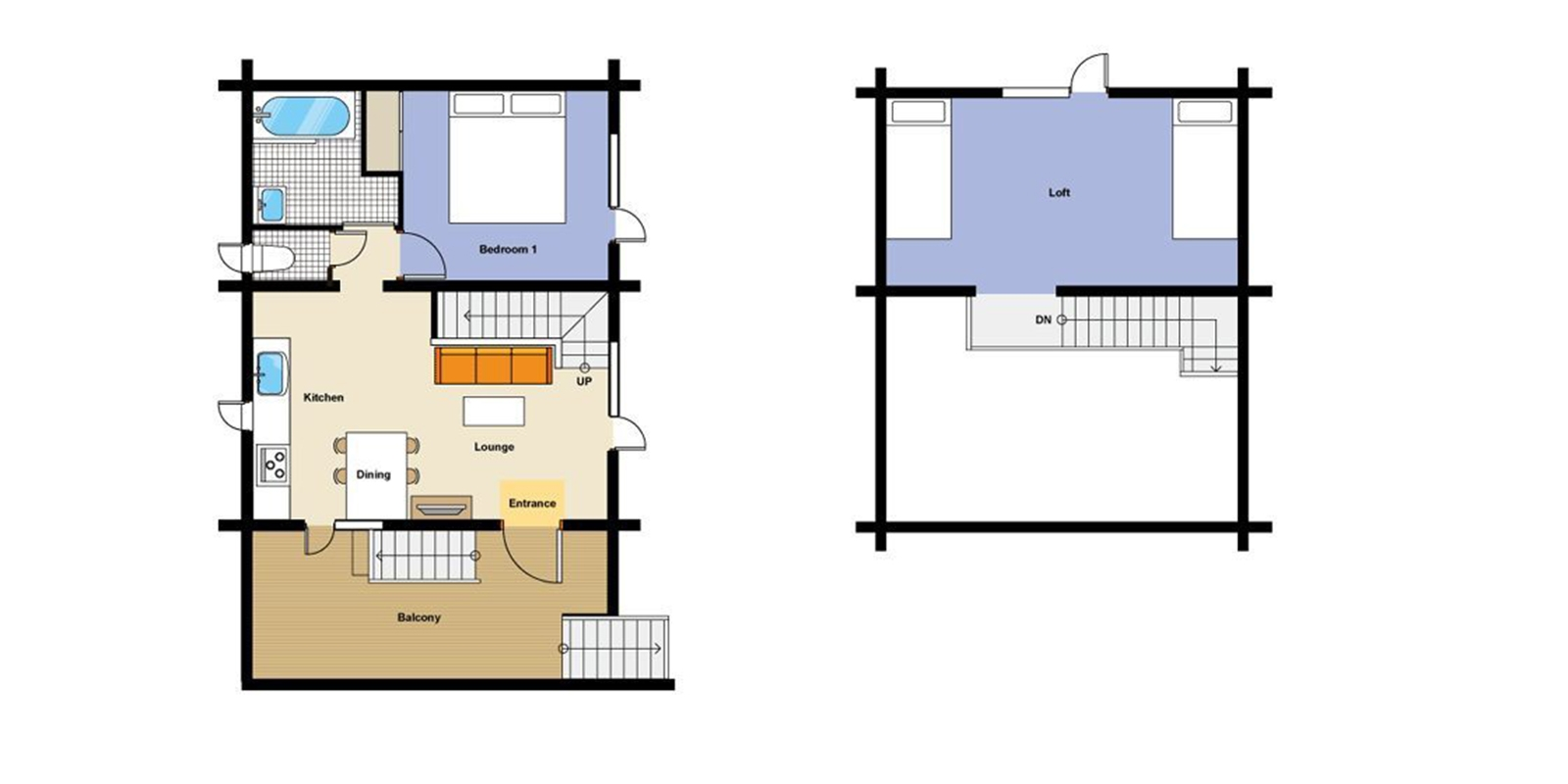 Nupuri Cottage Floor Plan | Hirafu, Niseko | Ministry of Chalets