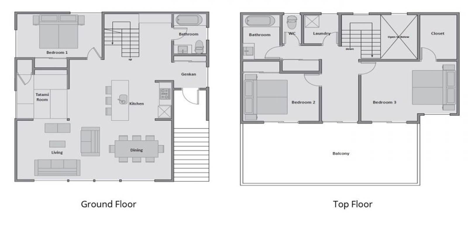 Oak Ridge Floor Plan | Hirafu, Niseko | Ministry of Villas