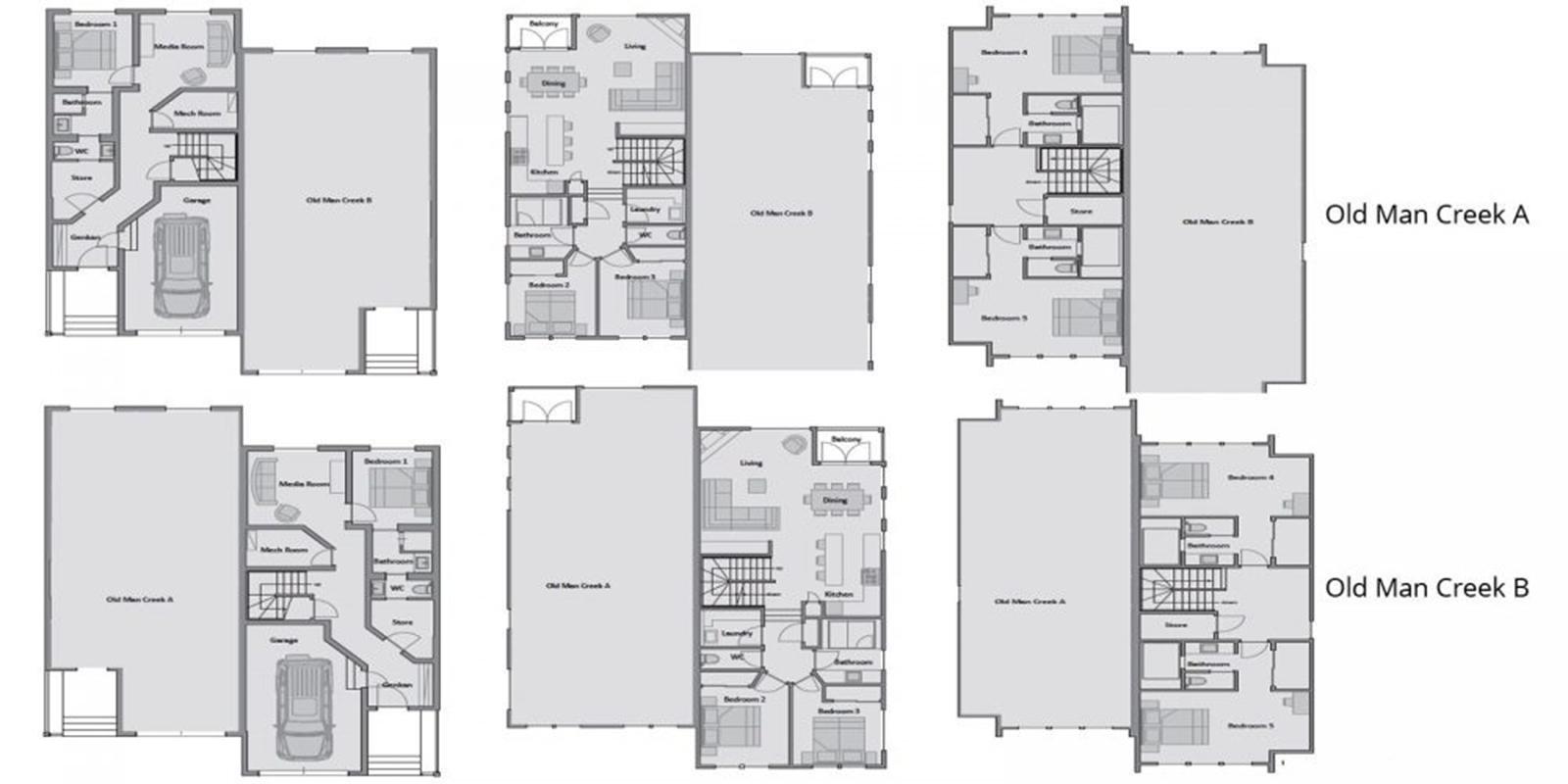 Old Man Creek Floor Plan | Hirafu, Niseko | Ministry of Chalets