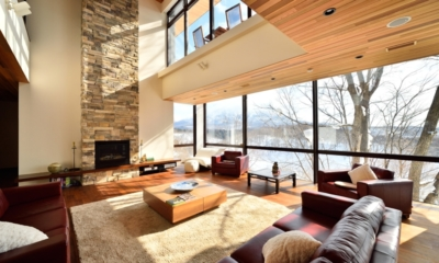 Panorama Living Area with TV | Lower Hirafu Village, Niseko | Ministry of Chalets