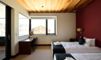 Panorama Bedroom with Twin Beds | Lower Hirafu Village, Niseko | Ministry of Chalets