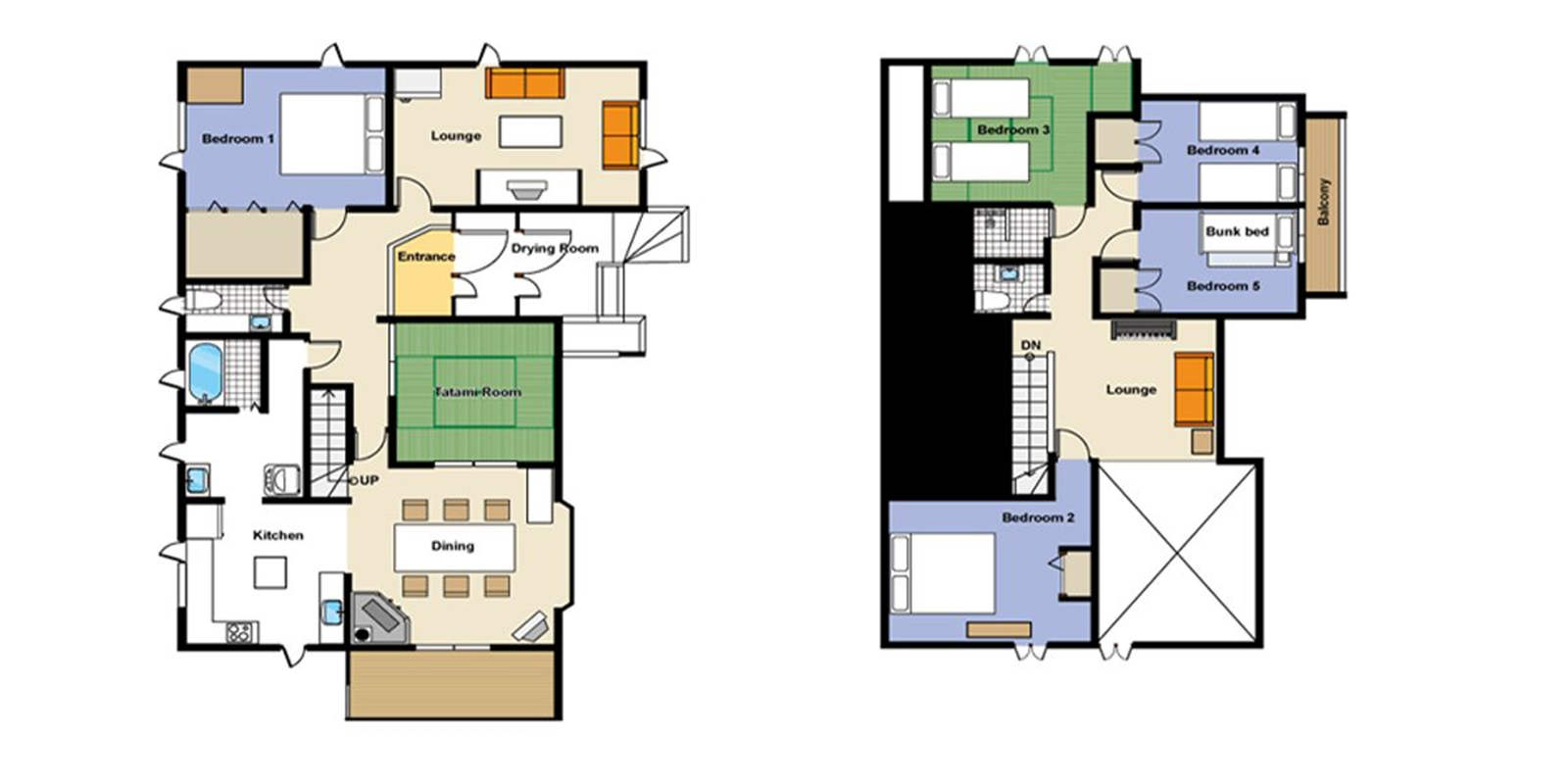 Powderhound Lodge Floor Plan | Hirafu, Niseko | Ministry of Chalets