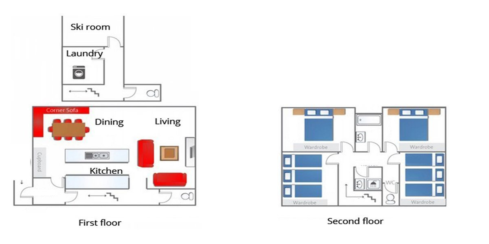 Shirokuma Chalets Floor Plan | Hirafu, Niseko | Ministry of Chalets
