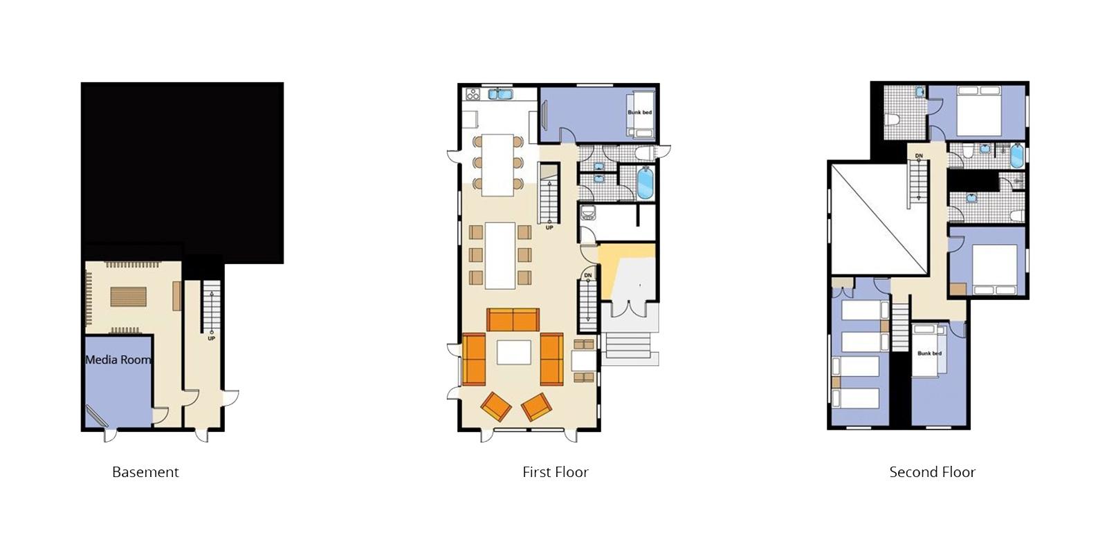 Sugarpot Floor Plan | Hirafu, Niseko | Ministry of Chalets