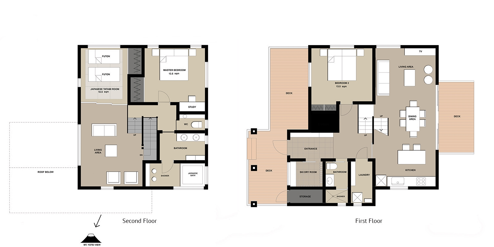 Tahoe Lodge Floor Plan | Hirafu, Niseko | Ministry of Chalets